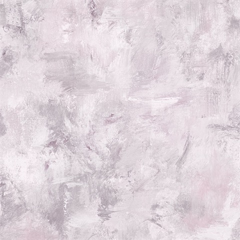 Watercolor Brush Strokes Pink & Grey Wallpaper