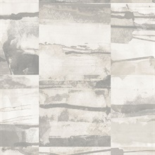 Watercolor Collage Strips Grey Wallpaper