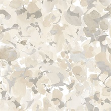 Watercolor Floral Beige & Taupe Wallpaper