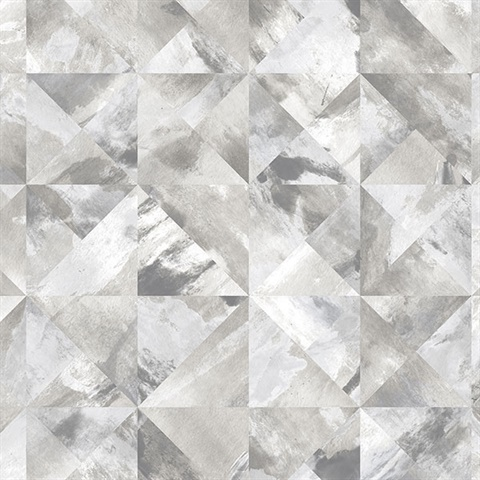 Watercolor Prisms Black & Grey Wallpaper