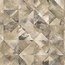 Watercolor Prisms Brown, Grey & Black Wallpaper