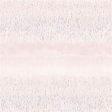 Watercolor Splatter Horizontal Stripes Pink & Grey Wallpaper