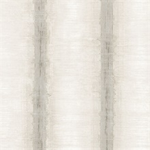Watercolor Stripes Beige & Grey Wallpaper