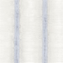 Watercolor Stripes Grey &  Pale Blue Wallpaper