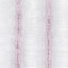 Watercolor Stripes Pink & Grey Wallpaper