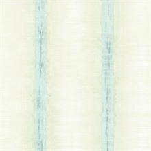 Watercolor Stripes Turquoise & Green Wallpaper