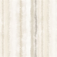 Watercolor Vertical Stripes Beige & Taupe Wallpaper
