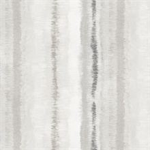 Watercolor Vertical Stripes Grey Wallpaper