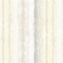 Watercolor Vertical Stripes Yellow, Grey & Gold Wallpaper