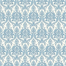 Waverly Indigo Petite Damask