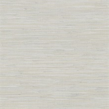 Waverly Light Grey Faux Grasscloth Wallpaper