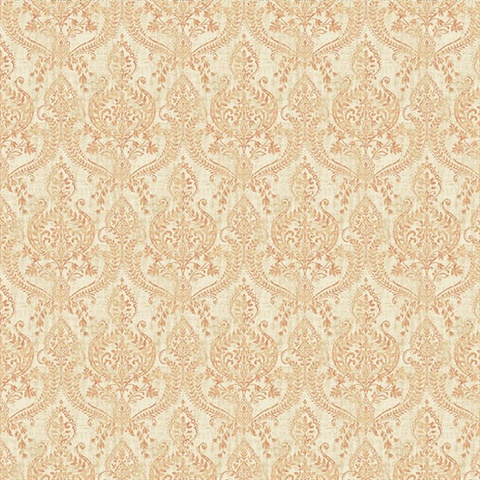 Waverly Rust Petite Damask