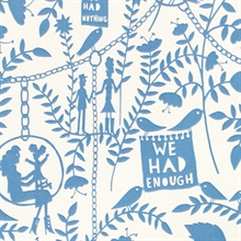 We had Everything - China Blue colourway wallpaper