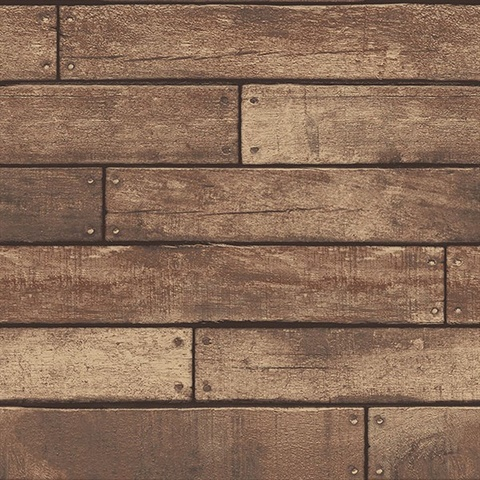 Weathered Brown Nailhead Plank