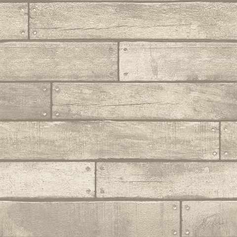 Trd23276 weathered grey nailhead plank wallpaper for Brewster wallcovering wood panels mural 8 700