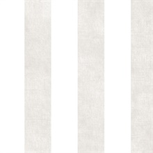 White and Taupe Vertical 2.5in Stripe with Texture Prepasted Wallpaper