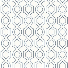 White & Blue Commercial Handdrawn Geometric Wallpaper