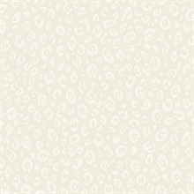 White & Cream Commercial Leopard Wallpaper