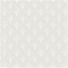 White & Cream Scalloped Pearls Wallpaper