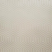White Felt Textured Labyrinth Wallpaper