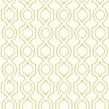 White & Green Commercial Handdrawn Geometric Wallpaper
