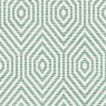 White & Green Commercial Hexagon Geometric Wallpaper