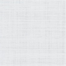 White Spun Faux Silk Textured Linen Wallpaper