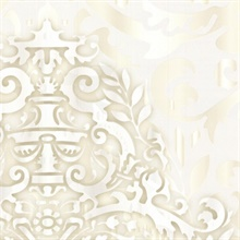 White Sugdin Damask