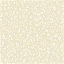 White & Taupe Commercial Leopard Wallpaper