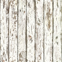 White Weathered Wood Wallpaper