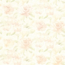 Whitney Peach Watercolour Floral