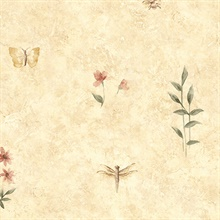 Wild Insects & Flowers Wallpaper