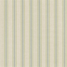 William Blue Linen Stripe Wallpaper