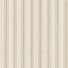 William Lavender Linen Stripe Wallpaper