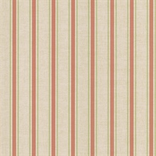 William Salmon Linen Stripe Wallpaper