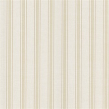 William Taupe Linen Stripe Wallpaper