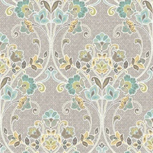 Willow Grey Nouveau Floral