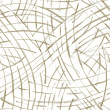 Willy Nilly Gold Abstract Brushstroke Lines Wallpaper