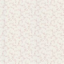 Winnie Pink Toile Trail Wallpaper
