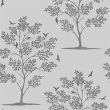 Woodland Grey Trees & Birds