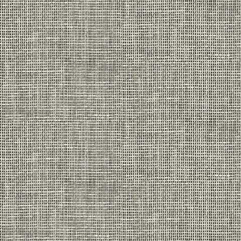 Woven Summer Charcoal Grid Wallpaper Ps41300 Modern
