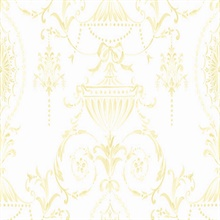 Yellow and White Tricia Damask