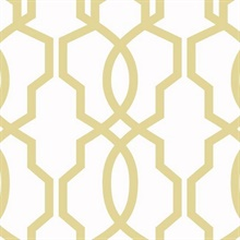Yellow Hourglass Trellis Geometric Wallpaper