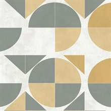 Yellow Radius Geometric Wallpaper