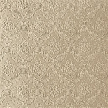 Yveline Light Brown Damask Ogee Wallpaper