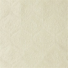 Yveline Taupe Damask Ogee Wallpaper