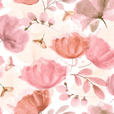 Zahra Pink Floral Wallpaper