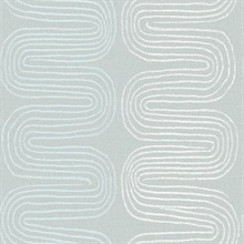 Zephyr Light Blue Abstract Stripe