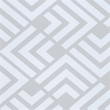 Zig Grey Geometric Wallpaper