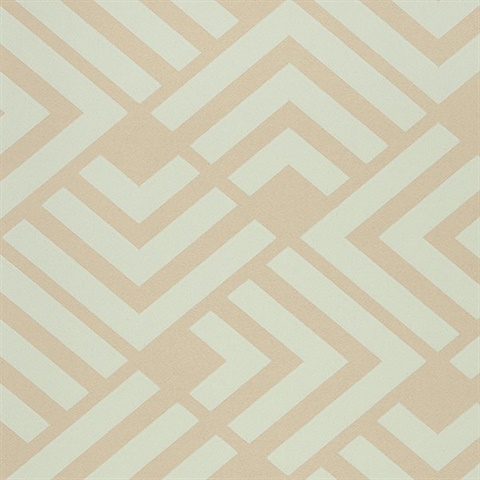 Zig Light Blue Geometric Wallpaper